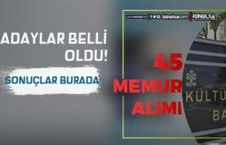 Kültür Bakanlığı 45 Memur Alımı Sözlü Sınav...