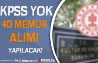 Kültür Bakanlığı Naklen 40 Memur Alımı ( Kontrolör...