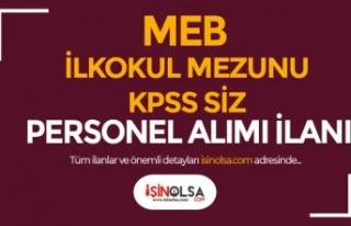 MEB Kozan Öğretmenevi KPSS siz Personel Alımı...