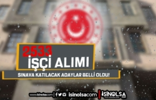 MSB 2533 İşçi Alımı Sınava Katılacak Adaylar...