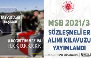 MSB İlköğretim Mezunu 2021/3 Sözleşmeli Er Alımı...