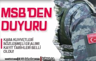 MSB Kara Kuvvetleri Sözleşmeli Er Alımı Kayıt...