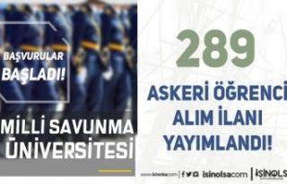 MSÜ Araştırma Enstitüleri için 289 Askeri Öğrenci...