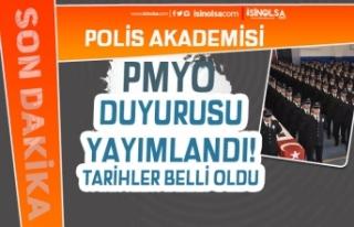 Polis Akademisi 2020 - 2021 PMYO Duyurusu Yayımlandı!...