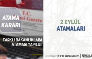 Resmi Gazete 2 Eylül Atama Kararı Yayımlandı!