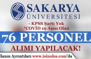 Sakarya Üniversitesi Covid 19 Aşısı Olan Geçici...