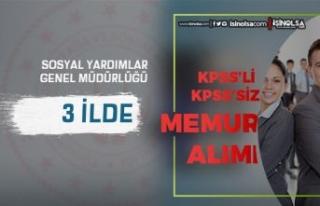 Sosyal Yardımlar SYDV 3 İlde 10 Memur ve Personel...
