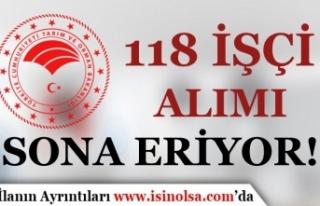 Tarım Bakanlığı 118 İşçi Alımı Kura Çekimi...