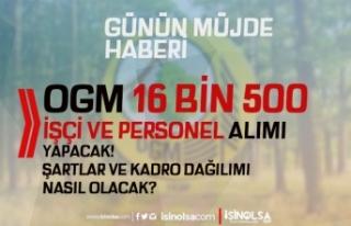 Tarım Bakanlığı OGM 16 Bin 500 İşçi Personel...