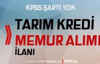 Tarım Kredi Proje Kapsamında KPSS siz Memur Alımı...