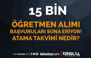 15 Bin Öğretmen Atama Başvuruları Sona Eriyor!...