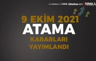 9 Ekim Resmi Gazete Atama Kararları: MEB ve Sağlık...