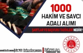 Adalet Bakanlığı 1000 Hakim ve Savcı Adayı Alımı(...