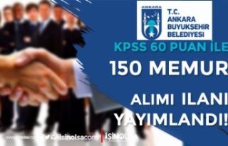 Ankara Büyükşehir Belediyesi 10. Dereceli 150 Memur...