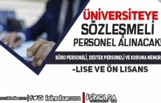 Bakırçay Üniversitesi 10 Büro, Destek Personeli...