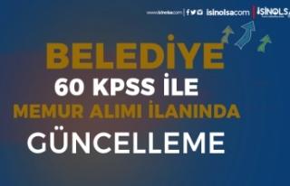 Belediye 60 KPSS İle İtfaiye Eri Alımı İlanı...
