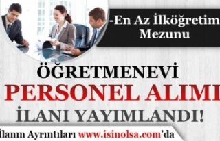 İŞKUR İle MEB Öğretmenevi En Az İlköğretim...