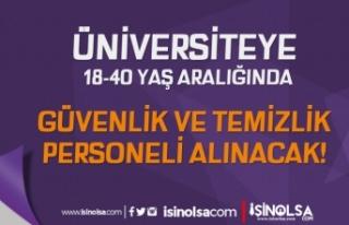 İzmir Demokrasi Üniversitesi 8 Güvenlik ve Temizlik...