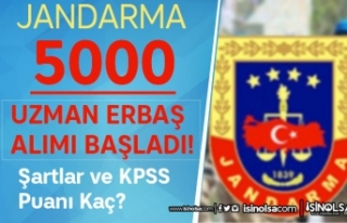 Jandarma 2022 Yılı 5000 Uzman Erbaş Alımı Başladı!...