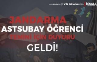 Jandarma JSGA Astsubay Alımı için Öğrenci Temini...