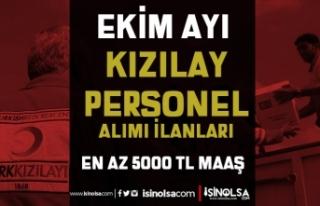 Kızılay En Az 5000 TL Maaş İle 2021 Ekim Ayı...