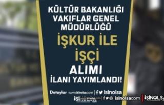 Kültür ve Turizm Bakanlığı VGM İŞKUR İle Ekim...