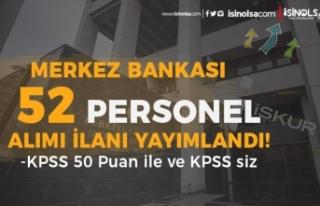 Merkez Bankası KPSS siz 27 Mühendis ve KPSS 50 İle...