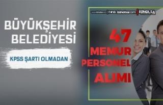 Mersin Büyükşehir Belediyesi 47 Öğretmen ve Büro...