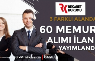 Rekabet Kurumu 60 Memur Alımı Yapacak ( 3 Alanda...