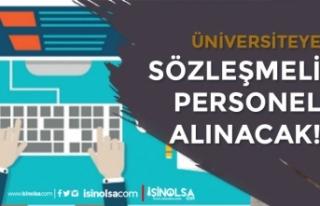 Sivas Bilim ve Teknoloji Üniversitesi 3 Sözleşmeli...