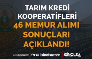 Tarım Kredi Sivas ve Malatya 46 Memur Alımı Sonuçları...