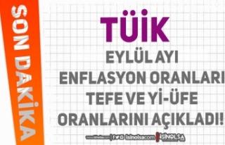 TÜİK Eylül Ayı Enflasyon Oranları TEFE ve Yİ-ÜFE...