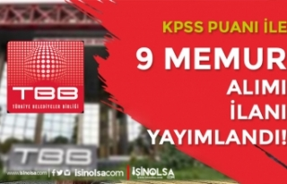 Türkiye Belediyeler Birliği KPSS İle 9 Memur Alımı...