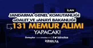 3 Kurum (Jandarma, Sanayi ve Adalet Bakanlığı ) 131 Memur Alımı Yapacak