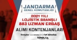 Jandarma Lojistik Branşlı 2021 Yılı 925 Mesleki Uzman Erbaş Kontenjanları!