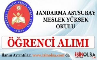 Jandarma Astsubay Meslek Yüksek Okulu Başvuru ve Seçme Sınavları