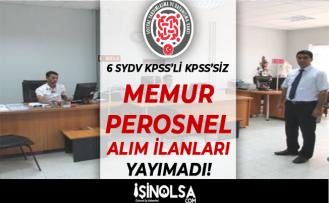 Yeni SYDV Memur ve Personel Alım İlanı Yayımladı: 6 SYDV KPSS'li KPSS'siz Alım