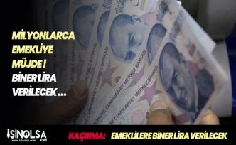 Emeklilere Müjdeli Haber! Mayıs Ayında Bin Lira İkramiye Veriliyor