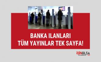 Mayıs ayı banka memuru alım ilanları