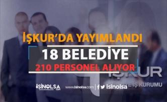İŞKUR'da Yayımlandı: 15 Şehre 210 Belediye Personeli Alınıyor!