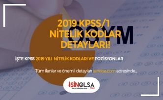 KPSS 2019/1 Nitelik Kodları, Özel Şartlar Nedir? Detaylı Anlatım
