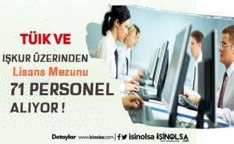 TÜİK ve İŞKUR 71 Lisans Mezunu Kamu Personeli Alacak!