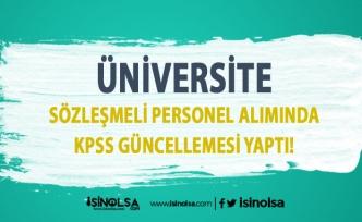 Artvin Çoruh Üniversitesi Sözleşmeli Personel Alımında KPSS Güncellemesi Yapıldı!