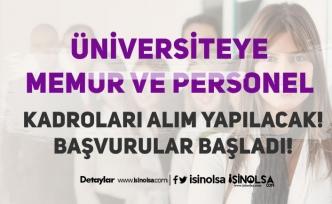 Kayseri Üniversitesi 27 Büro Memuru, Destek Personeli, Tekniker ve Teknisyen Alıyor!