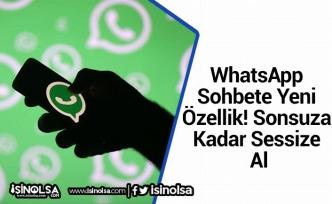 WhatsApp Sohbete Yeni Özellik! Sonsuza Kadar Sessize Al
