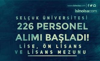 Selçuk Üniversitesi Hastaneye 226 Personel Alımı Başladı! Lise, Ön Lisans ve Lisans