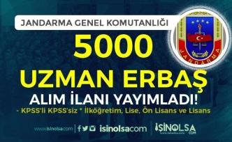 Jandarma 2021 Yılı 5000 Sözleşmeli Uzman Erbaş Alımı İlanı Yayımlandı! KPSS'li KPSS'Siz