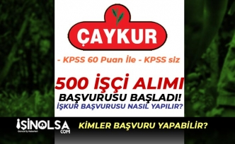 ÇAYKUR 500 İşçi Alımı Başladı! KPSS 60 Puan ve KPSS siz! İŞKUR Nasıl Başvuru Yapılır?