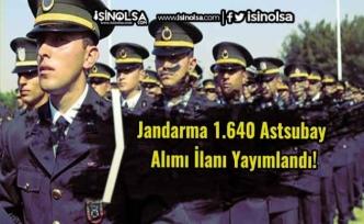 Jandarma 1.640 Astsubay Alımı İlanı Yayımlandı!
