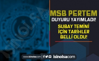 MSB'den Subay Temini Duyurusu Geldi! TSK Hukuk Sınıfı Subay Sınav Tarihleri